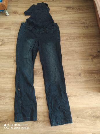 Ogrodniczki ciążowe, jeans, spodnie roz. 38