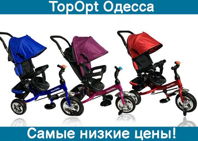 Детский трехколесный велосипед Best Trike 5588 с ручкой и звонком