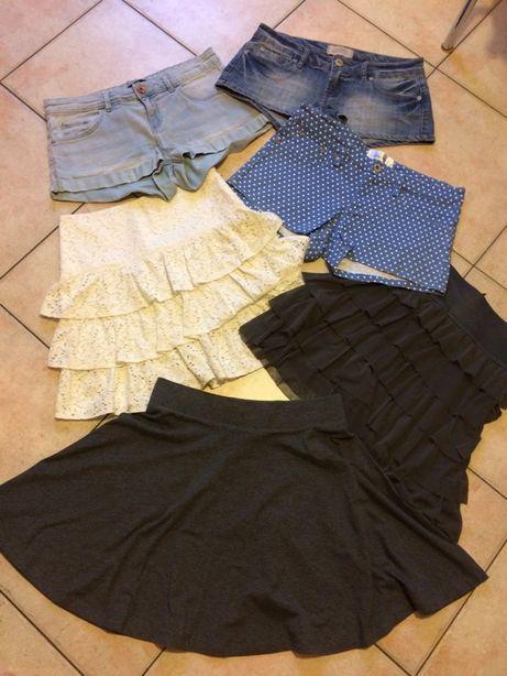 Spodenki letnie, spódniczki mini