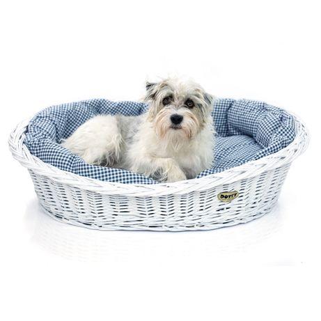 DOTTY Legowisko dla psa lub kota w koszu wiklinowym - koszyk dla psa
