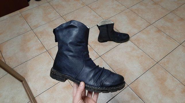 38р,стелька24,5см,Зимние полуботинки,сапоги,ботинки Rieker (Рикер), о