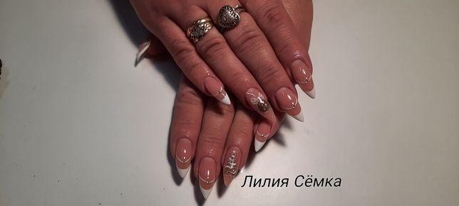Наращивание ногтей гелем ( качественно и недорого)