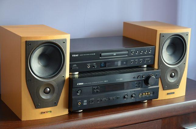 Zestaw audio Amplituner YAMAHA+ CD player TEAC+ 2x kolumny MISSION M72