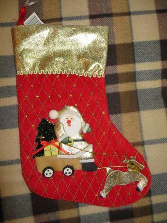 Чобіток новорічний для подарунків