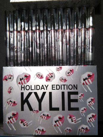 Набор матовых помад 12шт Kylie HOLIDAY EDITION Кайли+2шт в ПОДАРОК