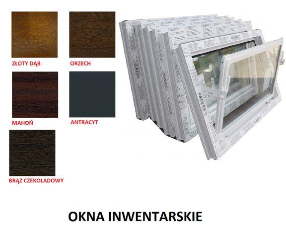 Okno PCV_szyba zespolona_Białe/kolor_okna do magazynów,hal,chlewni