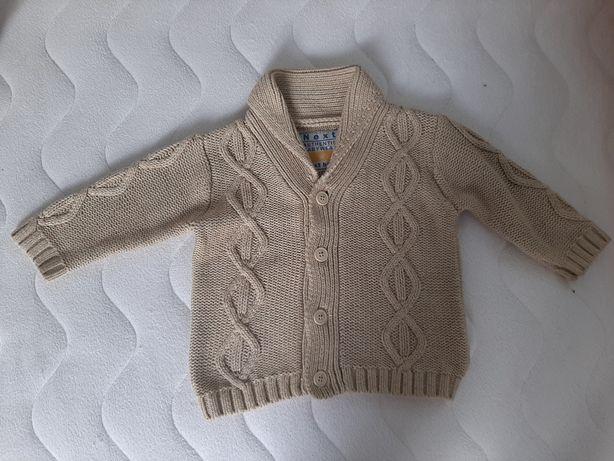 Elegancki sweterek Next rozpinany 9-12miesiecy, wysyĺka tylko 5zl
