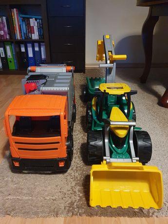 Zestaw traktor i śmieciarka