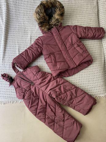 Зимний костюм (куртка и полукомбинезон) на рост 86-92 см