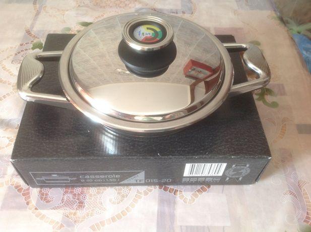 Сковорода Цептер из нержавеющей стали 18/10, 1,5 л, Италия.