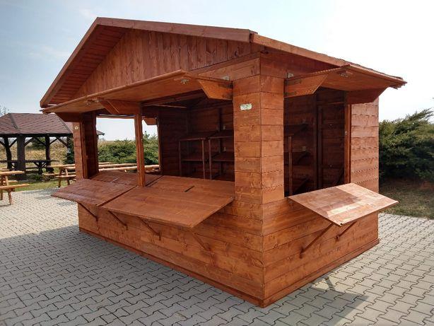 kiosk domek handlowy domek drewniany