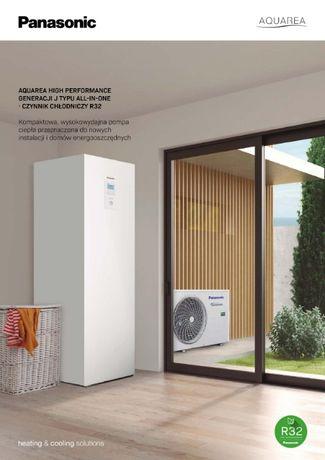 Pompa ciepła Panasonic 3-16 kW montaż, dotacja nawet 13.500,-zł
