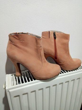 Buty botki tamaris damskie brudny róż 38 jesienne