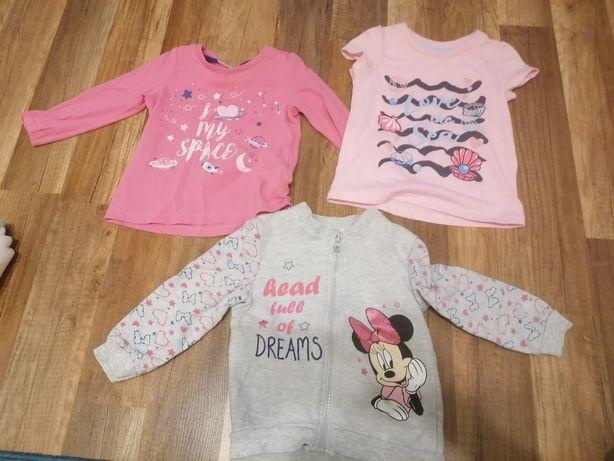 Ubranka dla dziewczynki 80-86 paczka