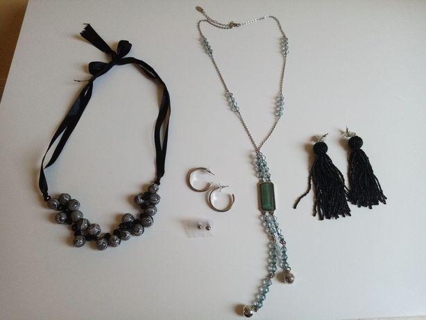 Biżuteria kolczyki wisiorki 5 szt
