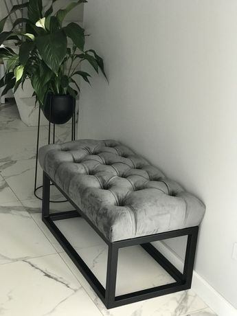 Pufa ławeczka  loft glamour