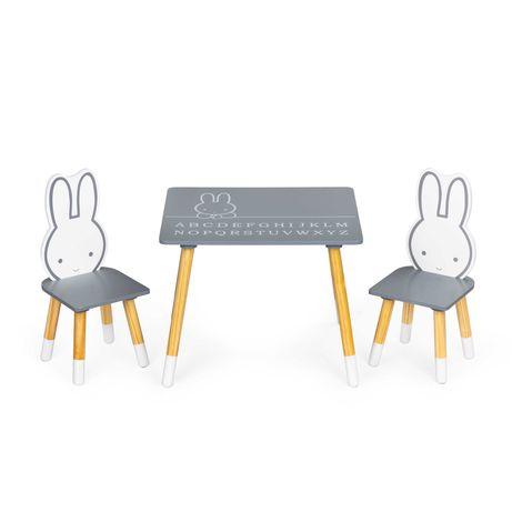 Stół stolik +2 krzesła meble dla dzieci zestaw Ecotoys #WH141