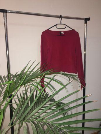 Burgundowa bluzka