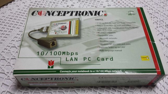 Placa de rede Conceptronic 10/100Mbps LAN PC CARD