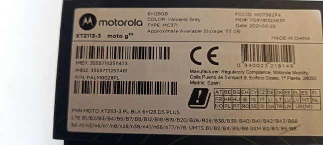 Telefon Motorola g5G