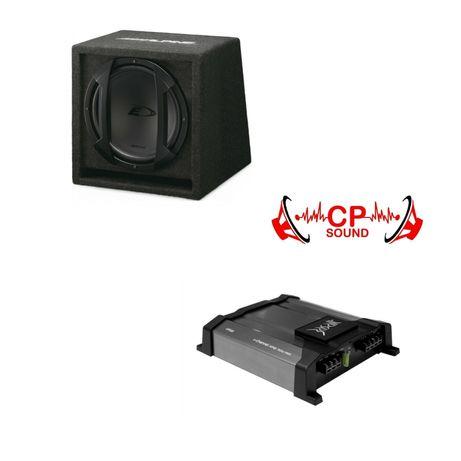 Subwoofer ALPINE 10' + Amplificador para Som Auto Carro (NOVO)
