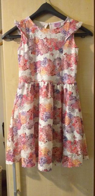 Sukienka Dziewczęca Koronka Kwiaty F&F