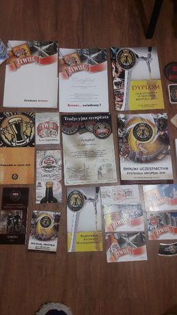 Browar zywiec kolekcja birofilia otwieracze smycze zapalki plakaty