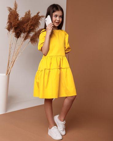 Модное платье для девочки 128 - 164 Детское подростковое летнее платье