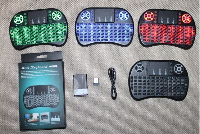 mini мини Беспроводная клавиатура usb с подсветкой блютуз keyboard