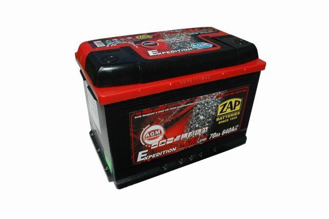 Akumulator ZAP Piastów AGM 70Ah 640A 12V Akumulatory START STOP 80Ah