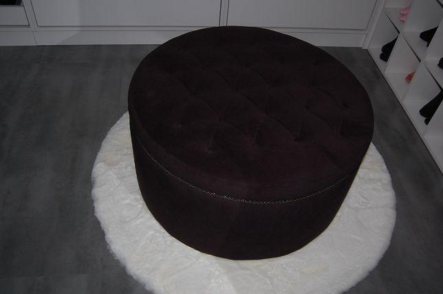Pufa czarna 80 cm