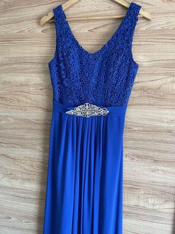 Vestido azul cerimonia