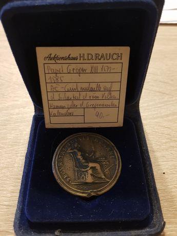 Bardzo stary Medal z papieżem Grzegorz XIII