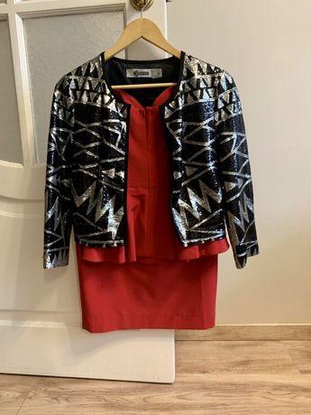 Женский пиджак в паетках