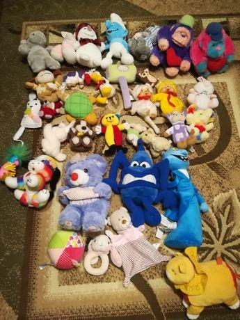 zestaw maskotek pluszowych + poduszka (35 sztuk)