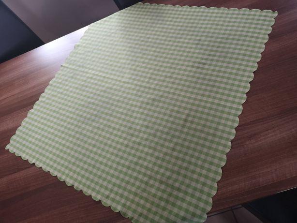 Obrusy 80x80 zielona kratka