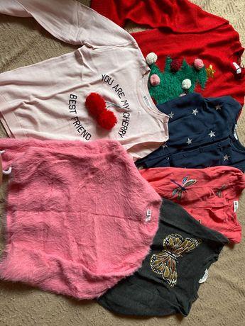 12 sztk.-Sweterki h&m dla dziewczynki 146/152 oraz bluzy -paka