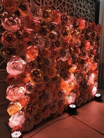 Ścianka Weselna, Dekoracja, Róże, na Własność