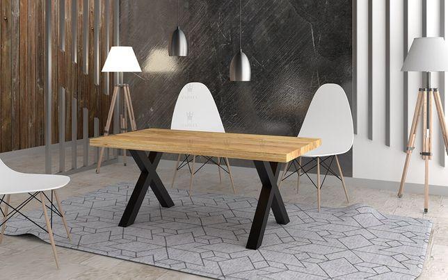 Stół dębowy Loftowy CARBON 180 cm x 90cm STYL LOFT