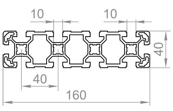 Профиль станочный алюминиевый