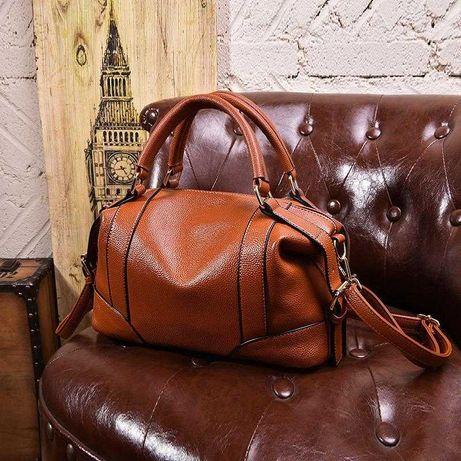 Женская кожаная ручная сумка