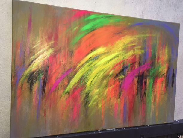 Quadro acabado de pintar acrílico sobre tela 60x90cm