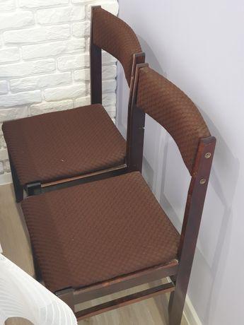 Krzesła  brązowe PRL