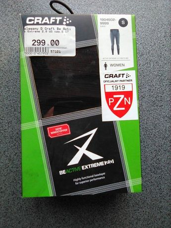 Kalesony getry termoaktywne windstopper Craft Be Active Extreme 2.0 WS