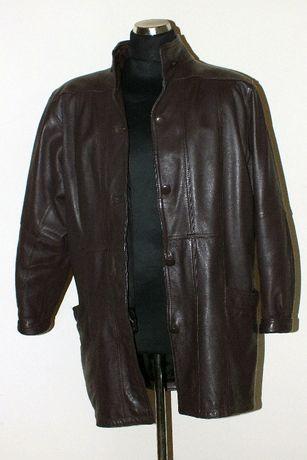 Płaszcz skórzany ocieplony parka kurtka L skóra naturalna
