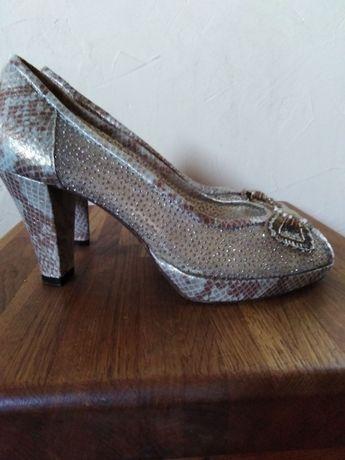Markowe,skórzane buty damskie, r.36