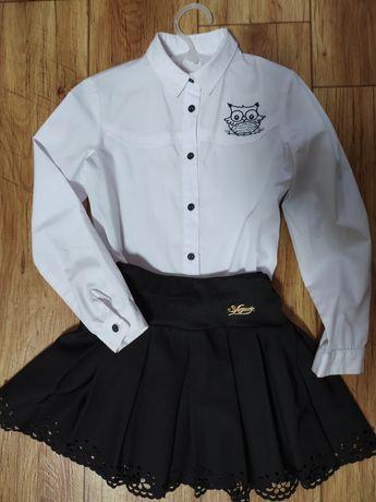 Продам школьную форму для первоклашки, рубашка и юбка