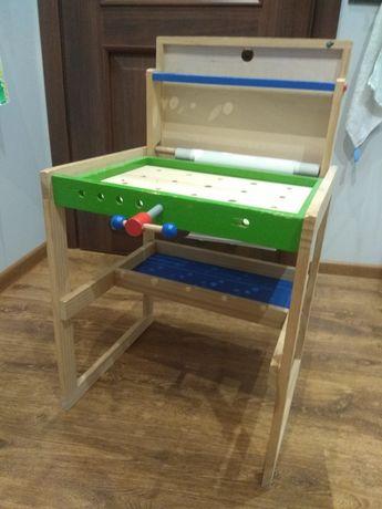 Drewniany warsztat zabawkowy