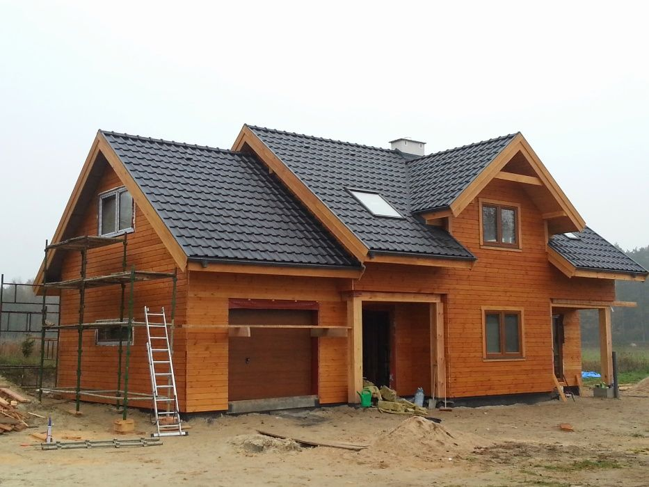 Domy drewniane, szkieletowe, całoroczne, na zgłoszenie 35m2, altany Borowo - image 1