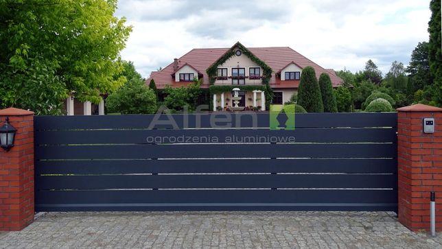 Ogrodzenie Aluminiowe Brama Przesuwna wjazdowa na wymiar Alfen N05 HIT